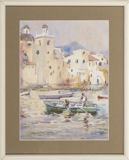Sale 9101 - Lot 2042 - Christopher Matthews (1954 - ) - Isle of Ischia, Gulf of Naples 30 x 22 cm (frame: 40 x 33 x 2 cm)