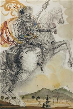 Sale 9108A - Lot 5074 - Salvador Dali (1904 - 1989) - El Cid 80 x 56 cm