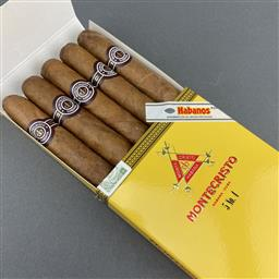 Sale 9142W - Lot 1067 - Montecristo No. 4 Cuban Cigars - pack of 5, removed from box dated September 2019