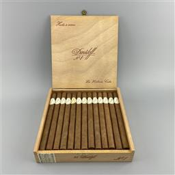 Sale 9250W - Lot 754 - Davidoff No.1 Cuban Cigars - box of 25 cigars, stamped AUA (June 1986); first made in 1969 and discontinued in 1991. Size: 38 x 19...