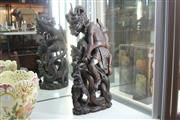 Sale 8348 - Lot 52 - Balinese Timber Figural Group of Garuda & Naga