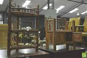 Sale 8371 - Lot 1042 - Pair of Split Cane Racks