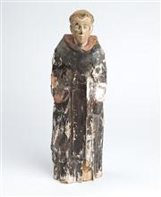 Sale 8379A - Lot 59 - An 18th century Santos figure of a monk (some losses and wear), height 28cm