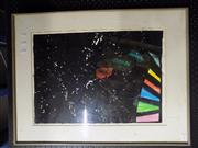 Sale 8441T - Lot 2061 - Framed Black Abstract; Artist Unknown; on paper