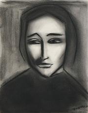 Sale 8510 - Lot 536 - Robert Dickerson (1924 - 2015) - Modest Woman 38 x 28cm
