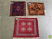 Sale 8515 - Lot 1094 - Three Persian Door Mats (Approx. 60 x 50cm)