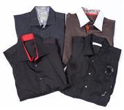 Sale 8550F - Lot 24 - Four black and patterned gents evening shirts including Poggianti, XL, RGB Black Label, XL.