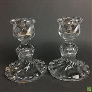 Sale 8654 - Lot 67 - Baccarat Pair Of Crystal Candle Holders