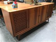Sale 8859 - Lot 1022 - Vintage Teak Sideboard with Lattice Front Doors