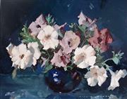 Sale 8992 - Lot 514 - Alan Baker (1914 - 1987) - Petunias 28 x 35.5 cm (frame: 43 x 51 x 3 cm)