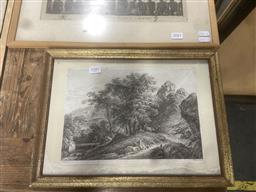 Sale 9111 - Lot 2087 - Engraving of Cattle Passing Under a Tree