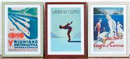 Sale 9134H - Lot 55 - A group of three Lago Di Como Prints 56cm x 40cm
