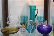 Sale 8365 - Lot 84 - Kosta Boda Art Glass Bowl with Other Glass ware Incl 7 Piece Drink Suite