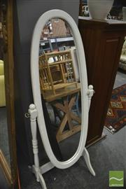 Sale 8386 - Lot 1044 - Oval Framed Cheval Mirror