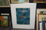 Sale 8410T - Lot 2042 - Framed Abstract, signed Newman