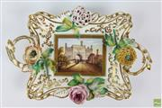 Sale 8555 - Lot 42 - Early 19th Century Porcelain Dish Marked North Lodge St Leonards