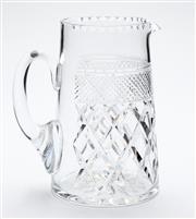 Sale 8599A - Lot 81 - A quality hand cut lead crystal jug c.1920s, H 18cm