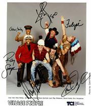 Sale 8635A - Lot 5039 - Alex Briely, Jeff Olson, Felipe Rose, Ray Simpson, David Hodo & Eric Anzalone (Village People)
