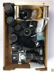 Sale 8648A - Lot 25 - Nikon D300 and Other Cameras including Contax; together with Collection of Mostly Nikon Lenses including ED AF Nikkor 180mm/F2.8, ED...