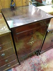 Sale 8657 - Lot 1025 - 1920s Advance Ultra Sonic Gramophone Cabinet, having two doors with brass door plate