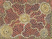 Sale 8718 - Lot 520 - Johnny Warangkula Tjupurrula (1925 - 2001) - Wild Potato Story (pre-1975) acrylic on board