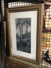 Sale 8779 - Lot 2048 - E Mitchell - A Bush Scene with River, 1906,oil on canvas , 57 x 37cm