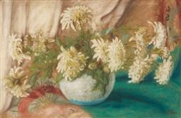 Sale 9099A - Lot 5093 - Dutch School (C20th) - White Carnations 31 x 48 cm (frame: 45 x 62 x 3 cm)