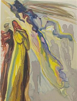 Sale 9108A - Lot 5046 - Salvador Dali (1904 - 1989) - Two Wreaths of Spirits 33 x 26 cm