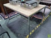 Sale 8554 - Lot 1023 - Bakers Old Oak Top Rectangular Table (H 77 x L 140 x W 75cm)
