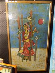 Sale 8561 - Lot 2090 - Framed Thai Work