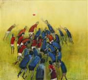 Sale 8604 - Lot 2002 - Monica Majzoub - Aussie Rules, 1993 74.5 x 81cm