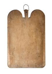 Sale 8599A - Lot 74 - A large antique French chopping board, H 5 x W 65 x D 43cm