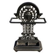 Sale 8649R - Lot 41 - Victorian Cast Iron Black Painted Stick Stand (H: 83cm)