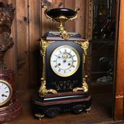 Sale 8795K - Lot 235 - A fine French slate and bronze gilt clock