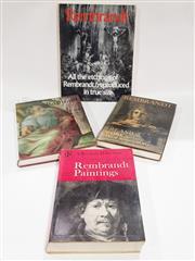 Sale 8822B - Lot 846 - 4 Volumes incl. Pope-Hennessy, J. Raphael, pub. Phaidon; Rembrandt, pub. Oresko Books, 1977; Bredius, A. Rembrandt the complete...