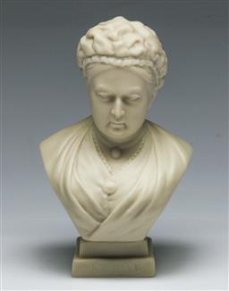 Sale 9153 - Lot 8 - W G Goss Parian Queen Victoria Bust (H:13.5cm)