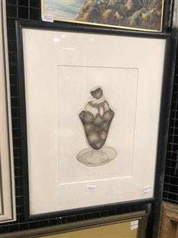 Sale 9155 - Lot 2088 - Helen Taylor Cold Comfort 1978 etching / aquatint, ed. AP 5/10, 48 x 38 cm, signed and dated lower right -