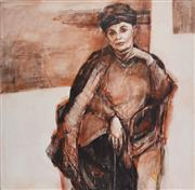 Sale 8443A - Lot 5073 - Judith Johnson (XX - ) - When life becomes more real. (Portrait of Gwenda Hall), 2003 150 x 150cm