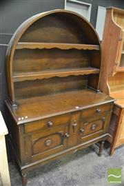 Sale 8386 - Lot 1007 - Timber Buffet & Hutch with Dome Top