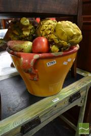 Sale 8469 - Lot 1019 - Bowl with Faux Fruit