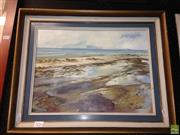 Sale 8622 - Lot 2084 - Lois Isles - Long Bay Shoreline, oil on canvas board, 29.5 x 39.5cm, signed lower right