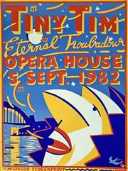 Sale 8645 - Lot 2009 - Martin Sharp (1942 - 2013) Print - Tiny Tim - Eternal Troubadour 76 x 57cm
