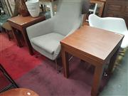 Sale 8676 - Lot 1119 - Pair of Modern Timber Side Tables