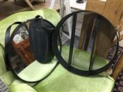 Sale 8851 - Lot 1076 - Round Shadow Shelves & Round Mirror