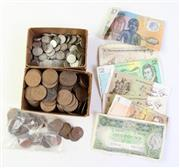 Sale 8994W - Lot 662 - Australian Pre-Decimal Currency & Notes incl $10 Polymer Note