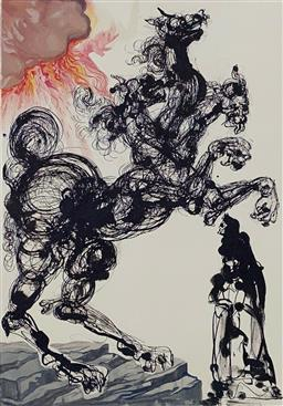 Sale 9108A - Lot 5022 - Salvador Dali (1904 - 1989) - Cerebus 33 x 26 cm