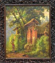 Sale 8374 - Lot 581 - R. Hadi (XX - XXI) (Indonesian) - Menuju Pura 59.5 x 48.5cm