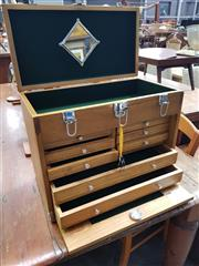 Sale 8672 - Lot 1042 - Timber Fitted Travelling Jewellery Case