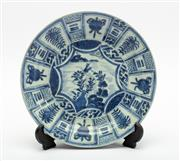 Sale 8770 - Lot 52 - A Kraak blue and white circular bowl, Chinese for the Dutch market, 16/17th century, diameter 21.5cm