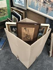 Sale 8784 - Lot 2096 - Group of Assorted Paintings and Decorative Prints